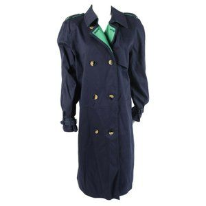 Phillip Lim Target Trench Coat Jacket Size M Navy